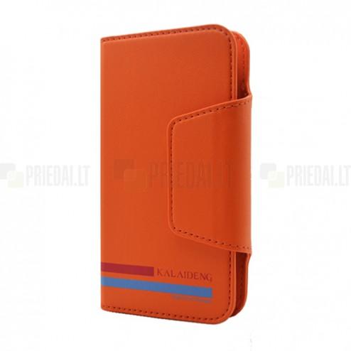 """""""Kalaideng"""" Versal universalus oranžinis odinis telefono dėklas telefonas iki 5,5"""" colių"""
