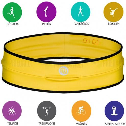 KengooRUN universalus sportinis geltonas diržas telefonui - dėklas (L dydis)