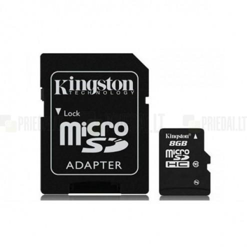 """""""Kingston"""" MicroSD atminties kortelė 8 Gb, 10 Klasė su SD adapteriu"""