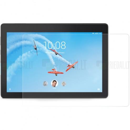 Lenovo Tab E10 ekrano skaidrus stiklas (9H 0.33 Tempered Glass, sustiprintos apsaugos)