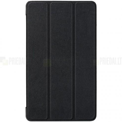 Lenovo Tab E7 (TB-7104F) atverčiamas juodas odinis dėklas - knygutė