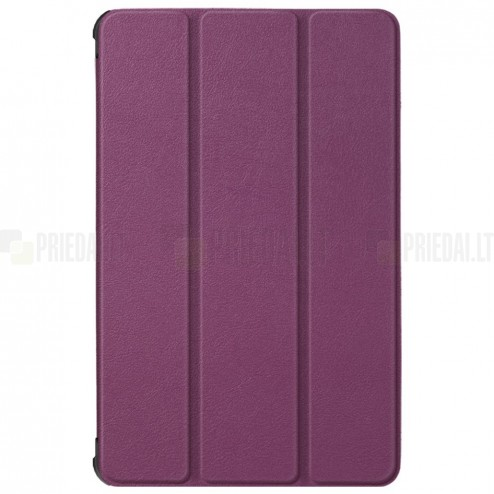 """Lenovo Tab M10 10.1"""" HD 2 Gen (TB-X306F, X306X) atverčiamas violetinis odinis dėklas (sulankstomas)"""