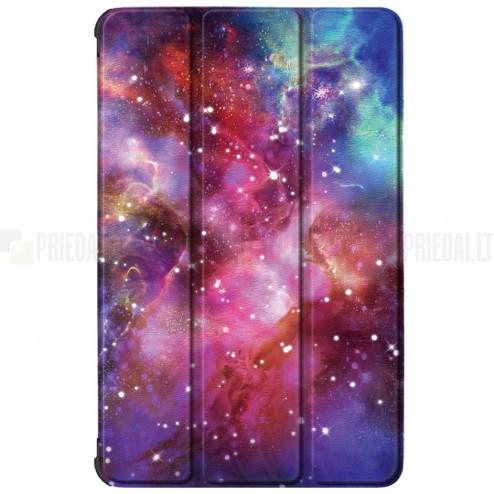 """Lenovo Tab M10 10.1"""" HD 2 Gen (X306F, X306X) atverčiamas """"Cosmo"""" spalvotas dėklas - knygutė"""