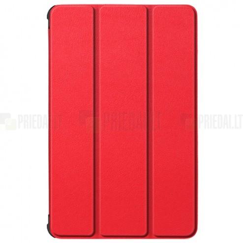 """Lenovo Tab M10 10.1"""" HD 2 Gen (TB-X306F, X306X) atverčiamas raudonas odinis dėklas (sulankstomas)"""