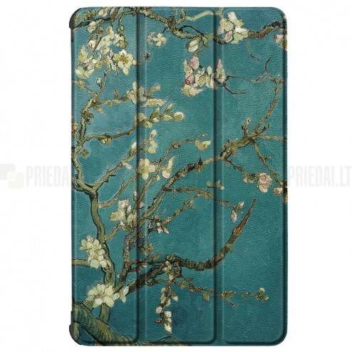 """Lenovo Tab M10 10.1"""" HD 2 Gen (X306F, X306X) atverčiamas spalvotas """"Sakura"""" dėklas - knygutė"""