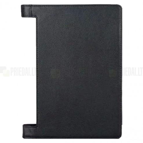 """Lenovo Yoga Tab 3 10,1 (YT3-X50L) """"Slim"""" atverčiamas juodas odinis dėklas (sulankstomas)"""