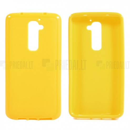 """""""Jelly Case"""" geltonas LG G2 dėklas"""