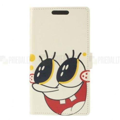 """""""SpongeBob"""" serijos LG G3 D855 baltas odinis atverčiamas dėklas"""