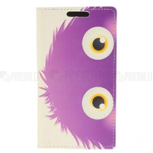 """""""Monster"""" serijos LG G3 D855 baltas odinis atverčiamas dėklas"""