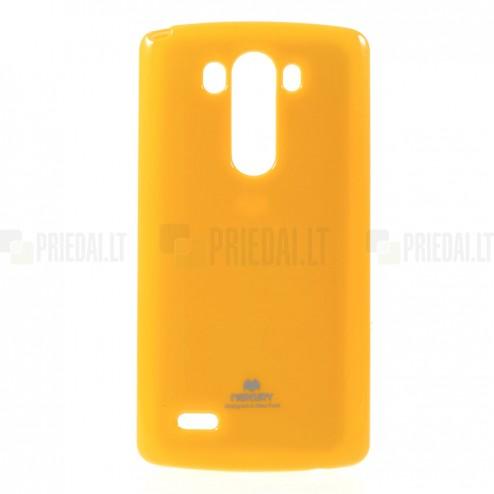 LG G3 D855 Mercury geltonas kieto silikono tpu dėklas - nugarėlė