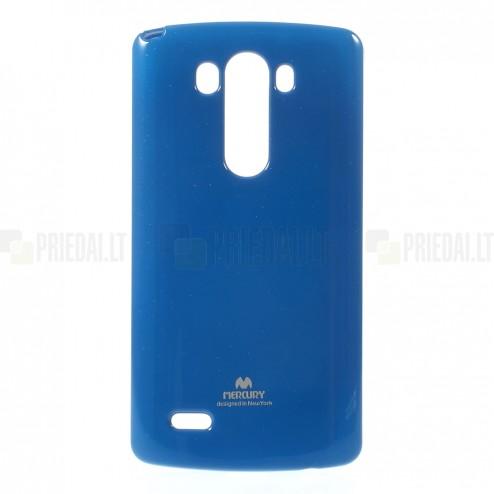 LG G3 D855 Mercury mėlynas kieto silikono tpu dėklas - nugarėlė