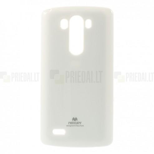 LG G3 Mercury baltas kieto silikono tpu dėklas - nugarėlė