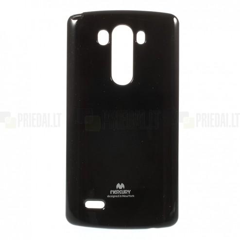 LG G3 Mercury juodas kieto silikono tpu dėklas - nugarėlė