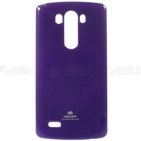 LG G3 D855 Mercury violetinis kieto silikono tpu dėklas - nugarėlė