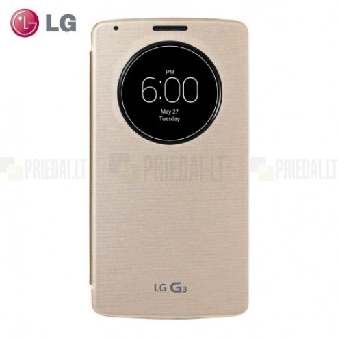 Oficialius LG G3 Quick Circle šampaninis atverčiamas Wireless Charge dėklas