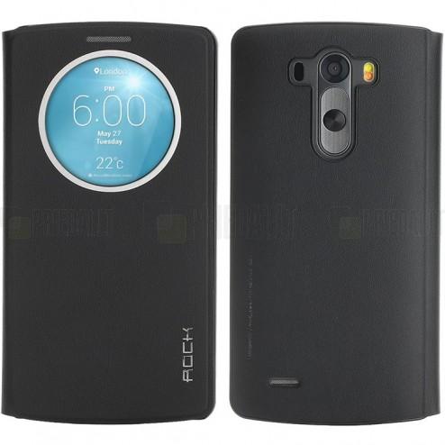 Rock Quick Circle LG G3 juodas atverčiamas dėklas - knygutė