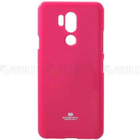 LG G7 ThinQ tamsiai rožinis Mercury kieto silikono (TPU) dėklas