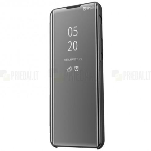 LG K50S (LM-X540) plastikinis atverčiamas juodas dėklas