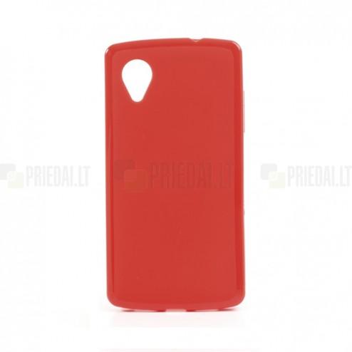 """""""Jelly Case"""" raudonas LG Nexus 5 E980 dėklas"""