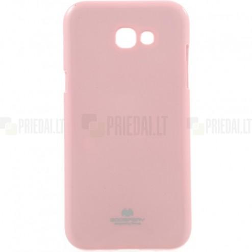 Samsung Galaxy A5 2017 (A520) Mercury šviesiai rožinis kieto silikono TPU dėklas - nugarėlė