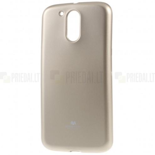 Motorola Moto G4, Moto G4 Plus auksinis Mercury kieto silikono (TPU) dėklas