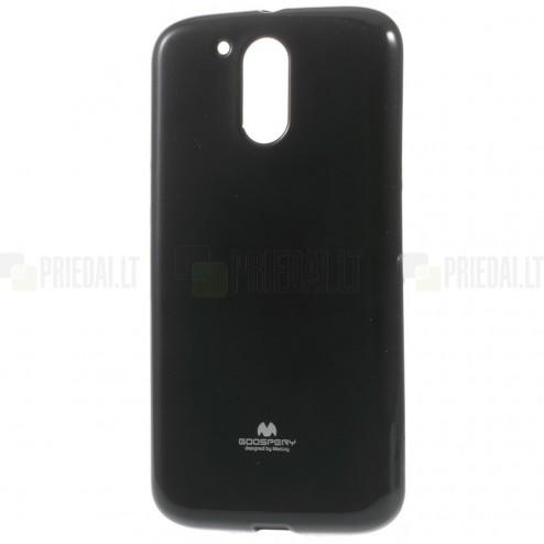 Motorola Moto G4, Moto G4 Plus juodas Mercury kieto silikono (TPU) dėklas