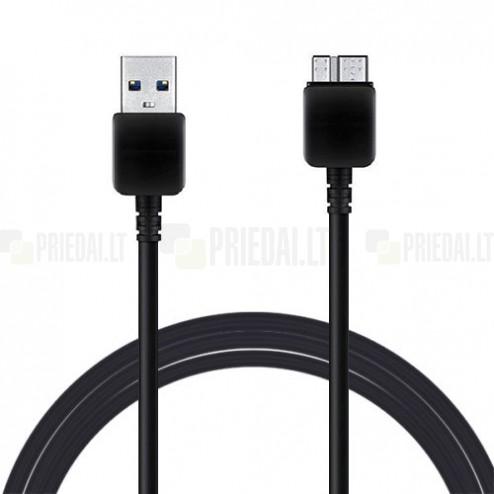 Juodas micro USB 3.0 laidas (3 metrai)