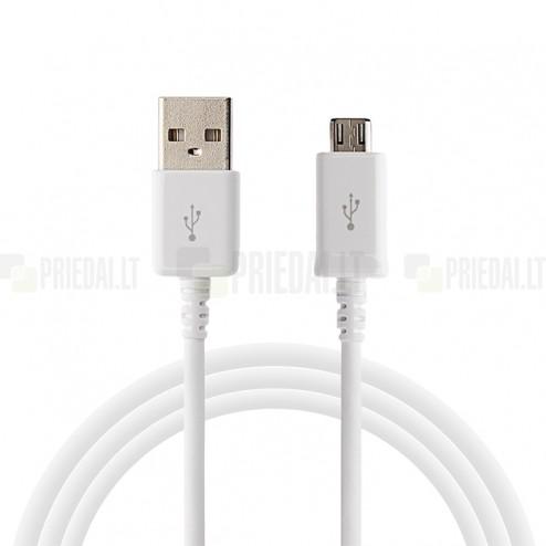 Micro usb baltas laidas 3 m. (kabelis)