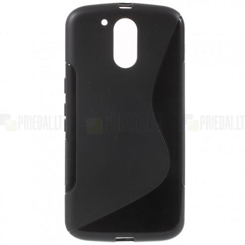 Motorola Moto G4, Moto G4 Plus kieto silikono TPU juodas dėklas - nugarėlė