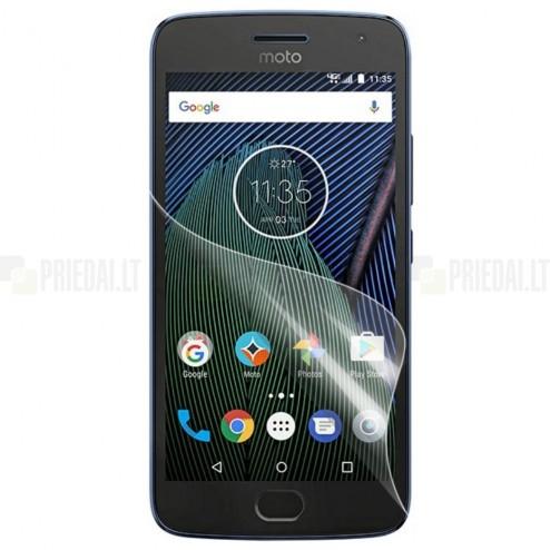 Motorola Moto G5 Plus (Gen 5 XT1684) apsauginė skaidri ekrano plėvelė
