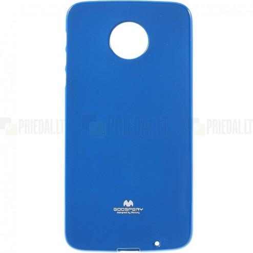 Motorola Moto Z (Moto Z Droid) mėlynas Mercury kieto silikono (TPU) dėklas