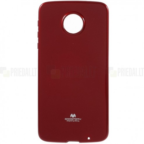 Motorola Moto Z (Moto Z Droid) raudonas Mercury kieto silikono (TPU) dėklas