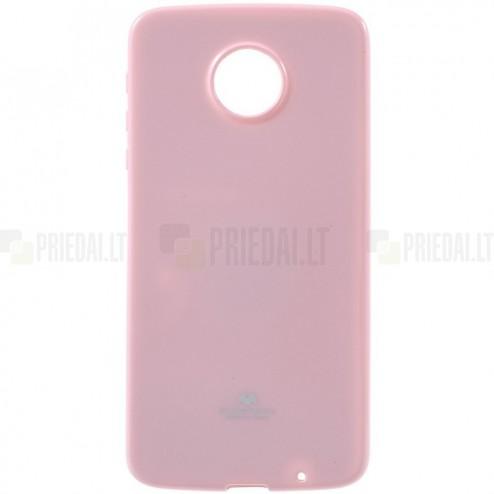 Motorola Moto Z (Moto Z Droid) šviesiai rožinis Mercury kieto silikono (TPU) dėklas
