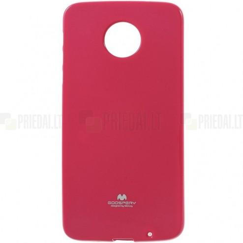 Motorola Moto Z (Moto Z Droid) tamsiai rožinis Mercury kieto silikono (TPU) dėklas