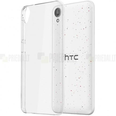 HTC Desire 825 plastikinis skaidrus (permatomas) dėklas