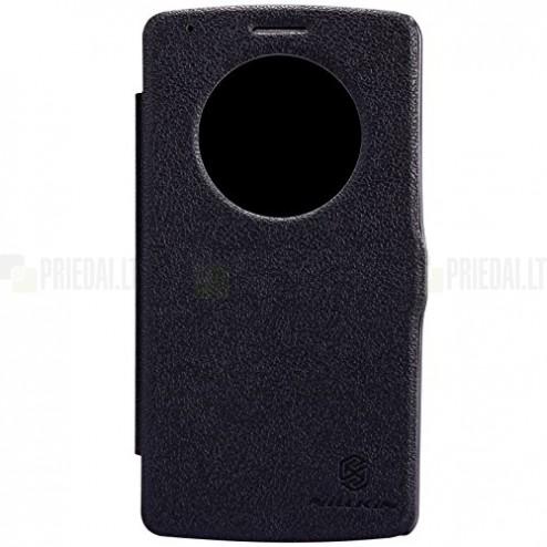 Nillkin Fresh LG G3 atverčiamas juodas odinis dėklas - knygutė