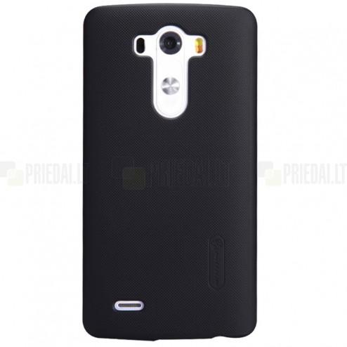 Nillkin Frosted Shield LG G3 juodas plastikinis dėklas + apsauginė ekrano plėvelė
