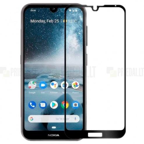 """Nokia 4.2 (2019) """"Rurihai""""  9H Tempered Glass sustiprintos apsaugos juodas pilnai dengiantis apsauginis ekrano stiklas 0,26 mm"""