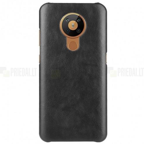 Slim Leather Nokia 5.3 juodas odinis dėklas - nugarėlė