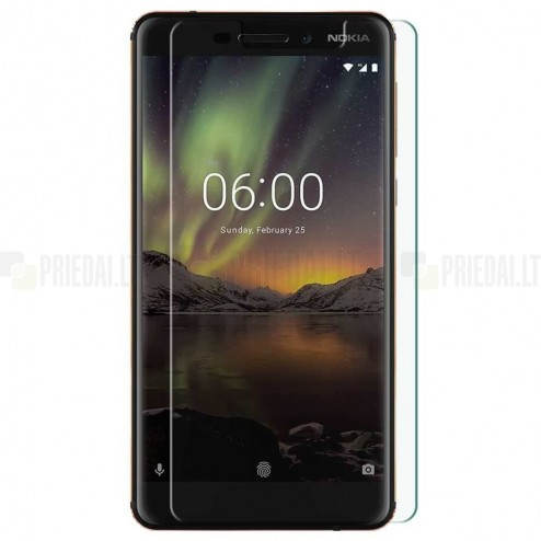Nokia 6 (2018) tempered Glass apsauginis ekrano stiklas 0.3 mm
