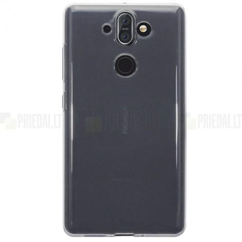 Nokia 8 Sirocco (Nokia 9) kieto silikono skaidrus TPU dėklas - nugarėlė