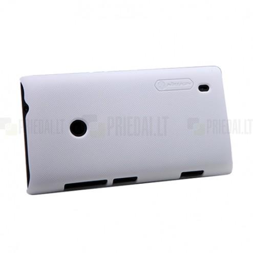 """Nillkin"" Super Frosted Shield baltas Nokia Lumia 520 dėklas"
