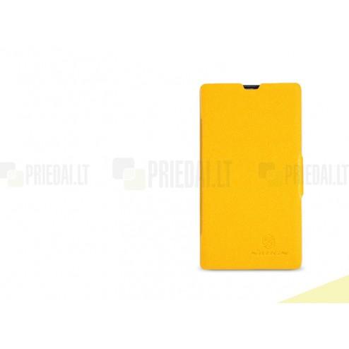 """Atverčiamas odinis """"Nillkin"""" Fresh Nokia Lumia 520 dėklas"""