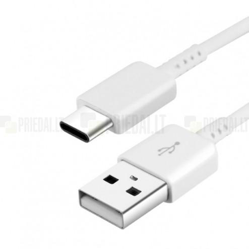 Samsung Type-C USB EP-DG970BWE / EP-DG977BWE baltas laidas 1 m. (originalus)