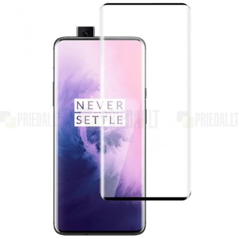 """OnePlus 7 Pro (7T Pro) """"Mocolo"""" 9H Tempered Glass sustiprintos apsaugos juodas pilnai dengiantis apsauginis ekrano stiklas 0,26 mm"""