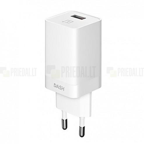 Oficialus OnePlus DASH Charge baltas įkroviklis (DC0504B3GB, EU, originalus)