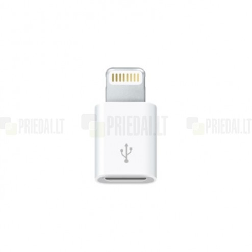 Originalus Apple Lightning Micro USB adapteris MD80ZM