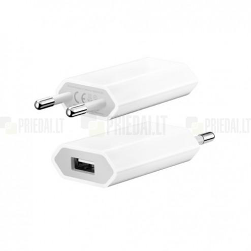 """Originalus """"Apple"""" iPhone įkroviklis (pakrovėjas) A1400 - baltas, 1 amp"""