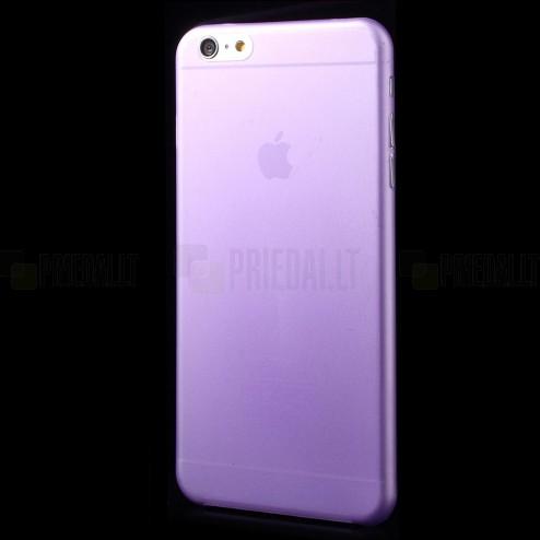 Ploniausias pasaulyje plastikinis skaidrus Apple iPhone 6 Plus (6s Plus) violetinis dėklas - nugarėlė