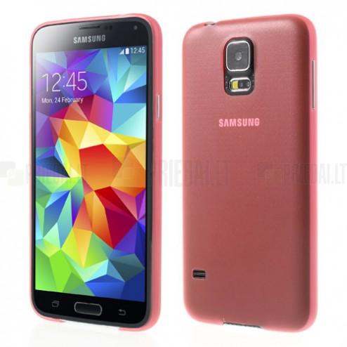 Ploniausias pasaulyje raudonas Samsung Galaxy S5 G900 dėklas (dėkliukas)